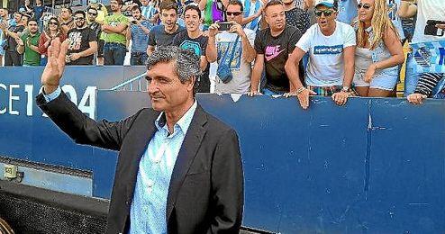 Juande Ramos, durante su presentación con el Málaga.