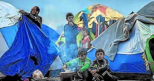 En la imagen, el campamento de refugiados de Idomeni, en Grecia.