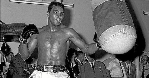 Muhammad Ali, en un entrenamiento.