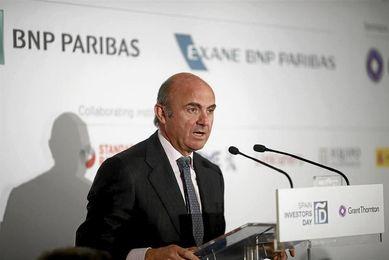 El ministro de industria actual (y economía), Luis de Guindos.