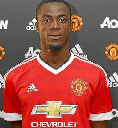 Bailly, con la el�stica del Manchester United.