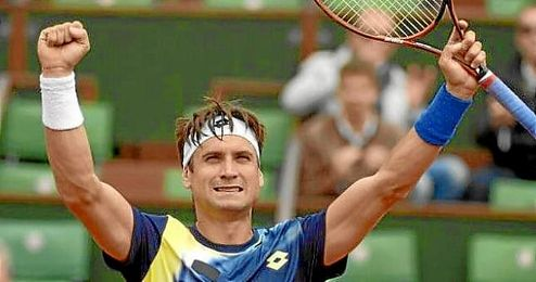 David Ferrer celebra su partido