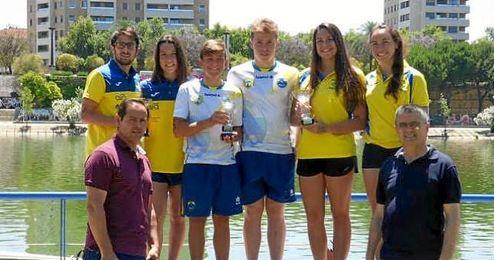 El Mairena del Aljarafe obtiene el título en el campeonato andaluz de aguas abiertas de Sevilla