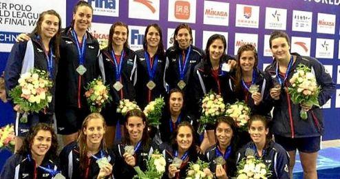 Las chicas de la selección española de Waterpolo se hicieron con la plata en el Mundial