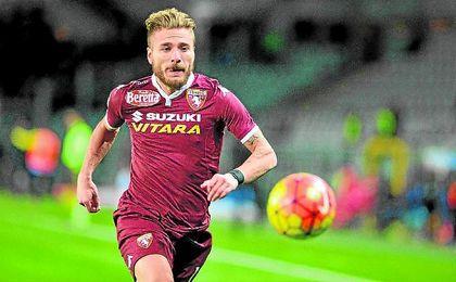 Ciro Immobile, con la camiseta del Torino.