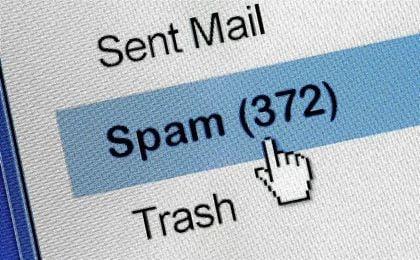 Bandeja de mensajes de correo electrónico.