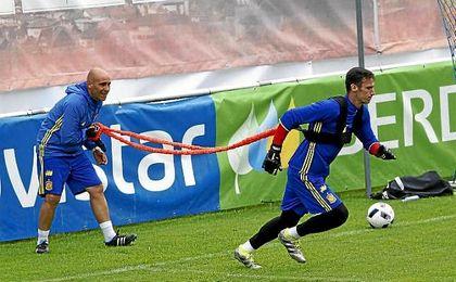 Sergio Rico se encuentra concentrado con la selección española en la Eurocopa.
