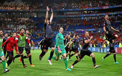 0-1. Albania elimina a Rumanía y sueña con los octavos de final