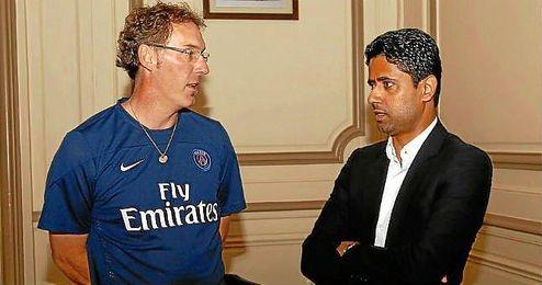 Blanc y Nasser Al-Khelaïfi están cerca de llegar a un acuerdo.