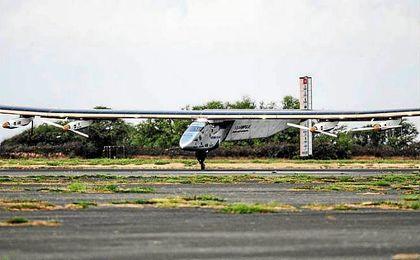 El Impulse II, en uno de sus aterrizajes.