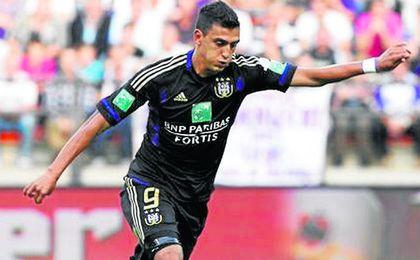 Mat�as Su�rez, con el Anderlecht.