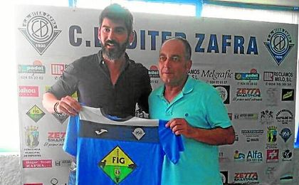 Martín, presentado con el Díter Zafra.