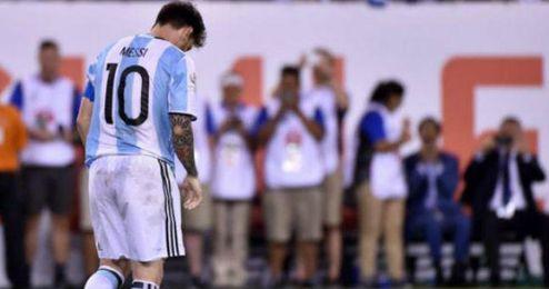 Leo Messi renuncia a su selección, con la que no ha ganado ningún gran título.