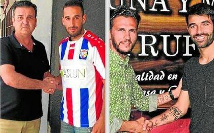 Manu Fidalgo y Manu Cruzado, dos de los fichajes hechos por Morón CF y Camas.