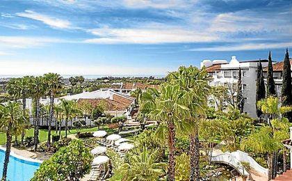 El hotel en el que permanecerá concentrado el Betis se encuentra en una zona tranquila de Marbella.