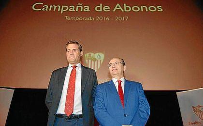 Loarte y Castro, durante la presentación de los abonos de la 16/17.