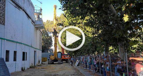 Comenzó la demolición de Gol Sur.