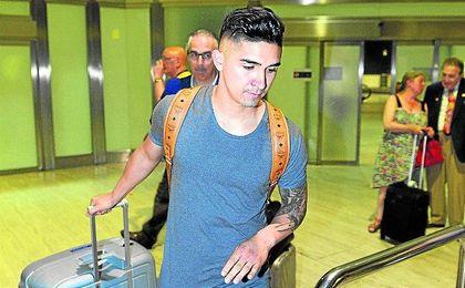 El chileno aterrizó a las dos de la madrugada del pasado miércoles en el Aeropuerto de San Pablo.
