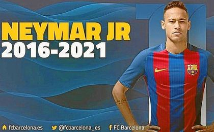 Neymar, culé hasta 2021