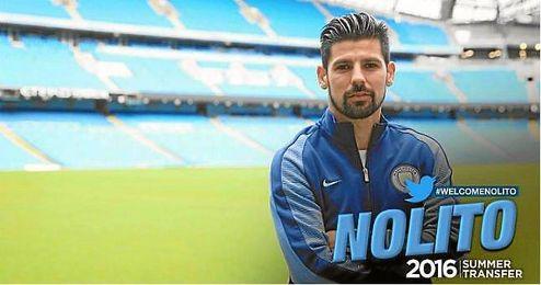 Así ha dado la bienvenida el Manchester City a Nolito.