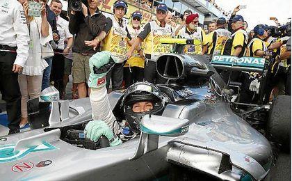 Rosberg en Austria.
