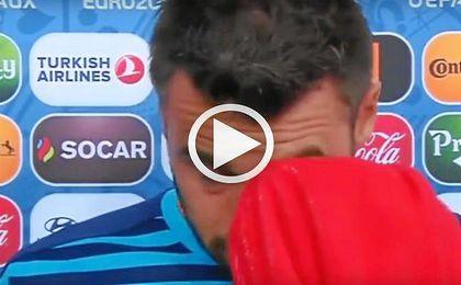 Barzagli se derrumba en directo tras la eliminación de Italia