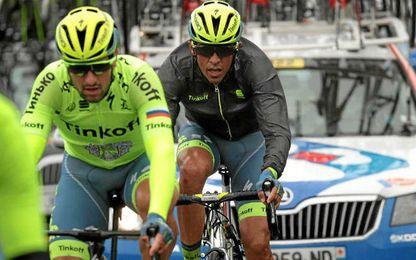 Contador volvió a estar envuelto en una caída.
