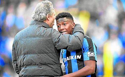 El entrenador del Brujas, estaría muy contento si el campeón belga es capaz de retener a Diaby.