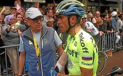 Contador a la llegada a meta