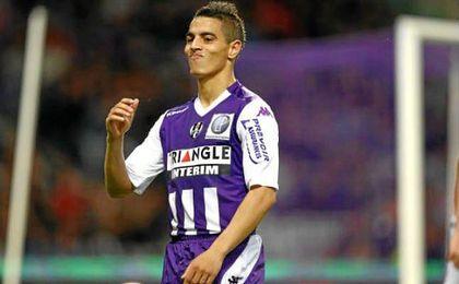 Wissam Ben Yedder se despidi� de la afici�n del Toulouse en el �ltimo partido como local.