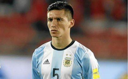 Kranevitter, en un partido con Argentina.