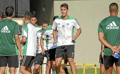 �lex Alegr�a durante el entrenamiento