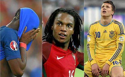 Renato Sanches, Paul Pogba y Yevhen Konoplyanka, la cara y la cruz de esta Euro.