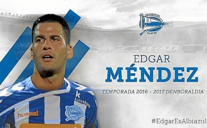 Edgar Méndez, nuevo jugador del Alavés.
