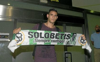 Sanabria, con los colores del Betis.