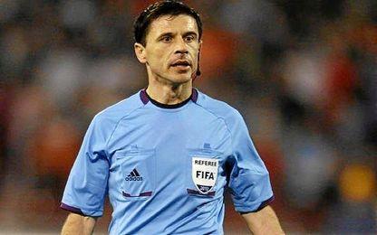 Miroslad Mazic, arbitro de la Supercopa de Europa entre Sevilla y Madrid.