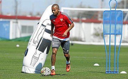 Mariano, durante un entrenamiento.