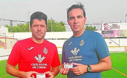Juanjo y Montoya, capitán y míster del Utrera, respectivamente.