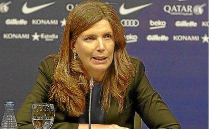 Rueda de prensa de Susana Monje, vicepresidenta del Barcelona.