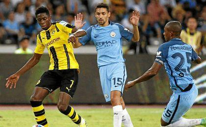Navas, con el Manchester City.