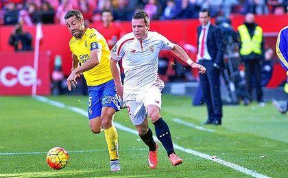 Lance del partido entre el Sevilla y Las Palmas de la temporada pasada.