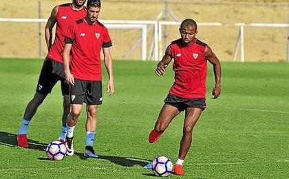 Mariano, en un entrenamiento de pretemporada.