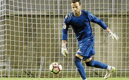 Manu Herrera, en su debut como bético.