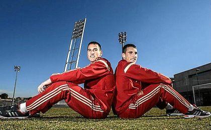 Los hermanos San Emeterio, en las categorías inferiores de la selección.