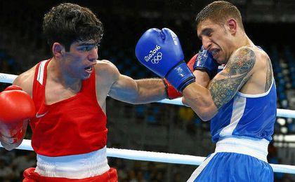 El boxeador espa�ol Samuel Carmona.