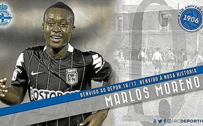 As� ha dado la bienvenida el Deportivo a Marlos Moreno.