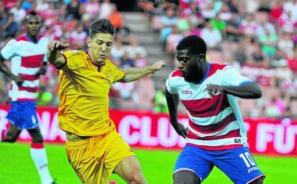 Vietto, en su debut como sevillista frente al Granada.