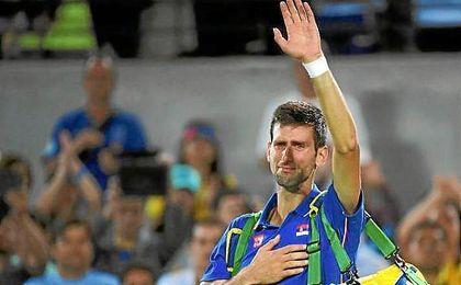 Djokovic se despide de R�o 2016 entre l�grimas.