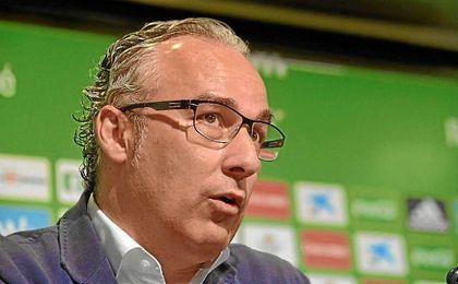 Miguel Torrecilla, durante su comparecencia ante los medios.