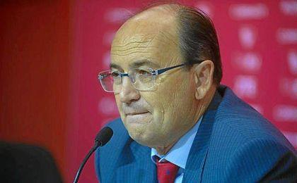 José Castro, durante la rueda de prensa de este mediodía.
